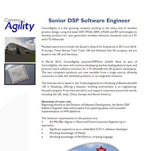 Software/Firmware Engineer vacancies
